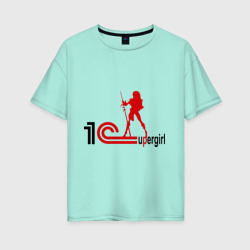 Женская футболка хлопок Oversize1C SuperGirl (3)