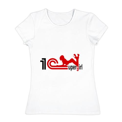Женская футболка хлопок  Фото 01, 1C SuperGirl (4)