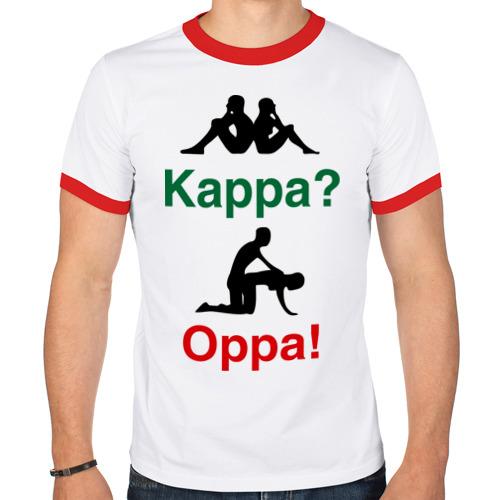 Мужская футболка рингер  Фото 01, kappa oppa