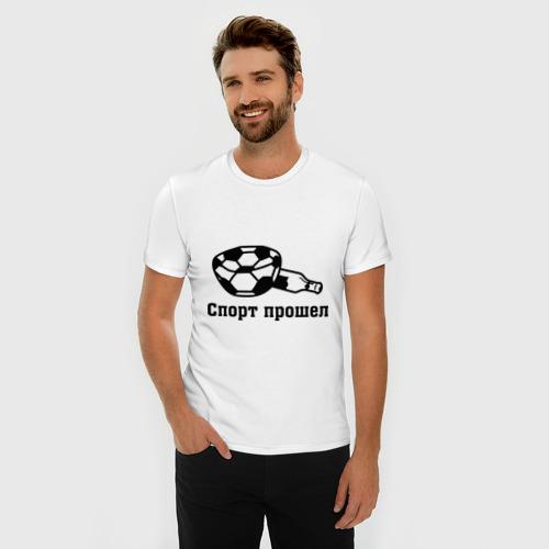 Мужская футболка премиум  Фото 03, Спорт прошел