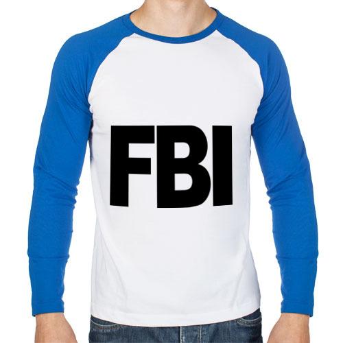 Мужской лонгслив реглан FBI