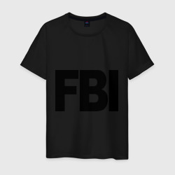 Мужская футболка хлопокFBI