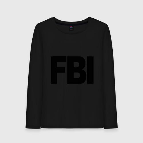 Женский лонгслив хлопок FBI