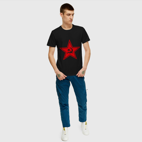 Мужская футболка хлопок Звезда СССР Фото 01