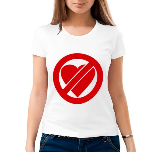 Женская футболка хлопок  Фото 03, Не любить