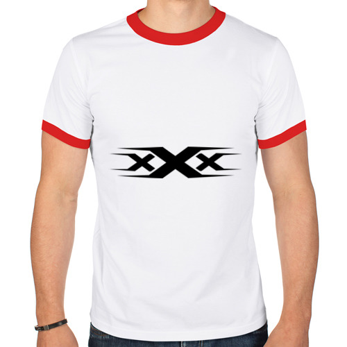 Мужская футболка рингер  Фото 01, XXX