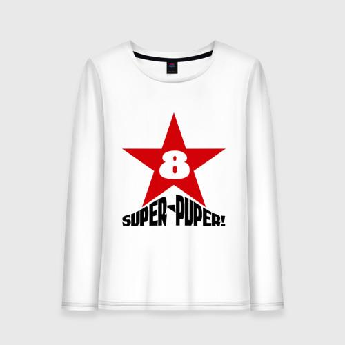 Женский лонгслив хлопок  Фото 01, Super-Puper Star