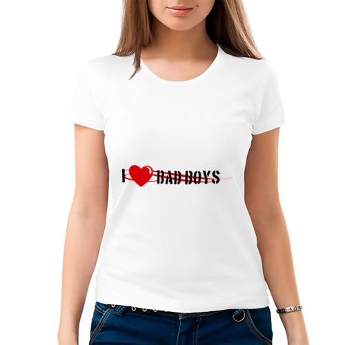 Женская футболка хлопок  Фото 03, I Love BAD Boys