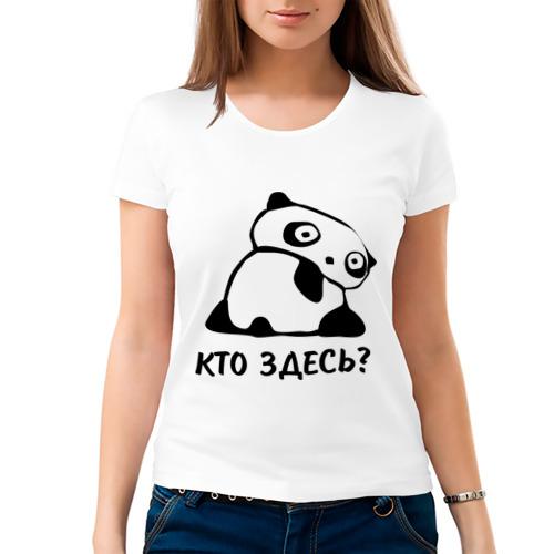 Женская футболка хлопок  Фото 03, Кто здесь?