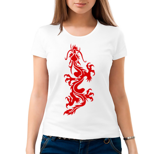 Женская футболка хлопок  Фото 03, Дракон-ящер