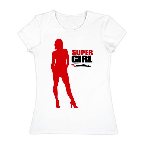 Женская футболка хлопок  Фото 01, Super Girl