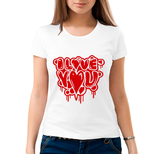 Женская футболка хлопок  Фото 03, I Love You