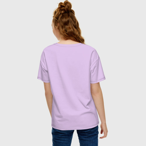 Женская футболка хлопок Oversize Самолёт любви Фото 01