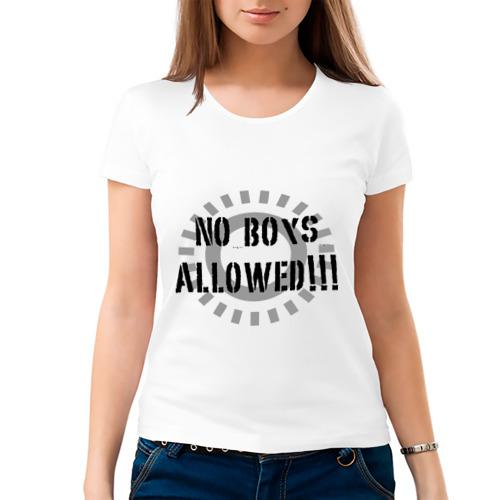 Женская футболка хлопок  Фото 03, No Boys Allowed