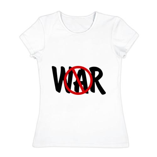 Женская футболка хлопок  Фото 01, Нет войне!