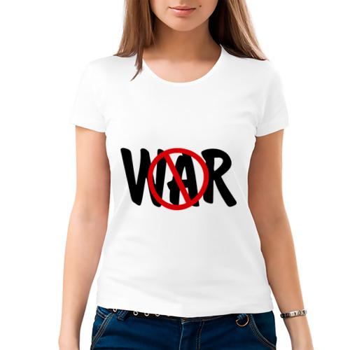 Женская футболка хлопок  Фото 03, Нет войне!