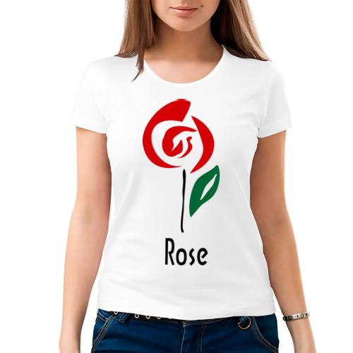 Женская футболка хлопок  Фото 03, Роза