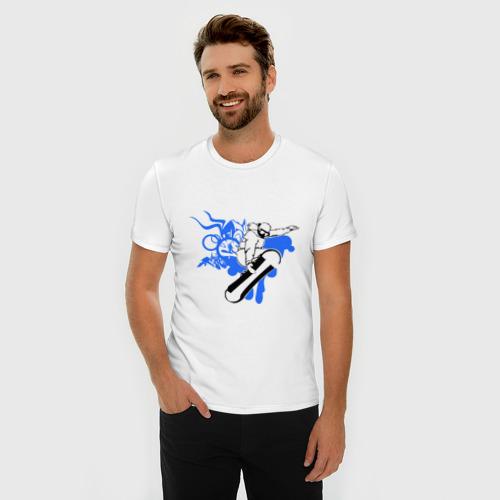 Мужская футболка премиум  Фото 03, Сноуборд