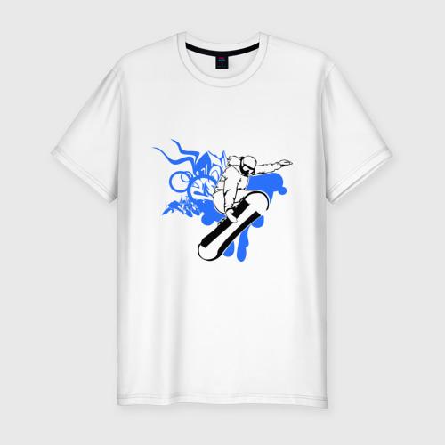 Мужская футболка премиум  Фото 01, Сноуборд