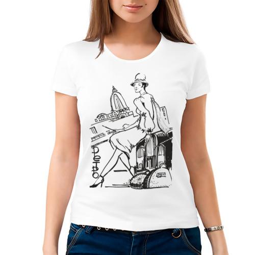 Женская футболка хлопок  Фото 03, Ретро (2)