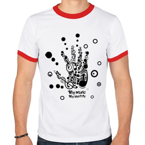 Мужская футболка рингер  Фото 01, My music