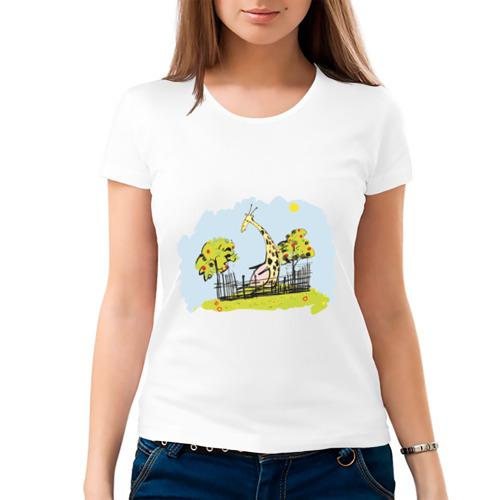 Женская футболка хлопок  Фото 03, Жираф