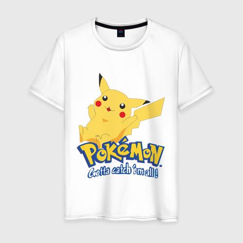 Мужская футболка хлопок Pokemon
