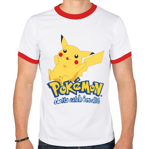 Мужская футболка рингер  Фото 01, Pokemon