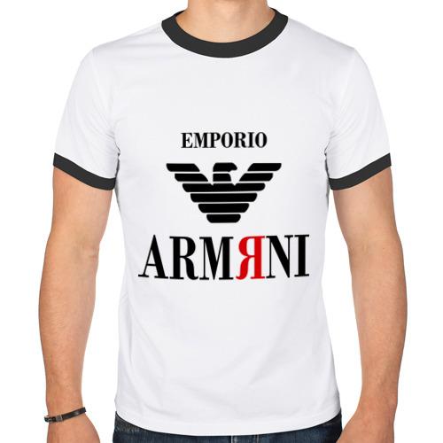 Мужская футболка рингер  Фото 01, Армяни