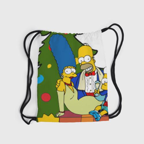 Рюкзак-мешок 3D  Фото 04, Новый год у симпсонов