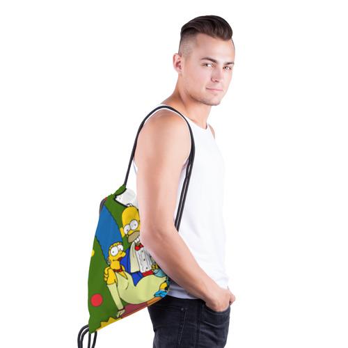 Рюкзак-мешок 3D  Фото 03, Новый год у симпсонов