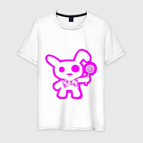 Мужская футболка хлопок Эмо-заяц