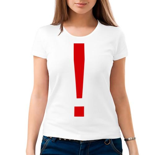 Женская футболка хлопок  Фото 03, Восклицательный знак