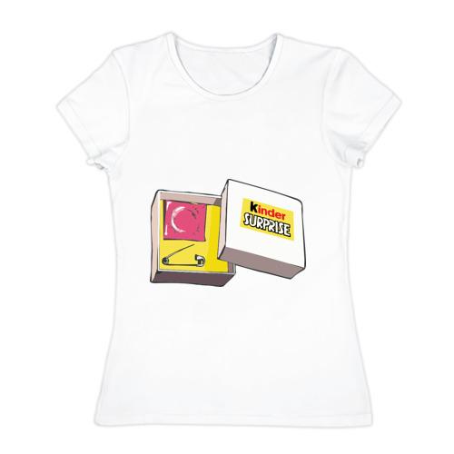 Женская футболка хлопок Киндер сюрприз