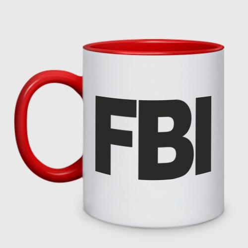 Кружка двухцветная FBI