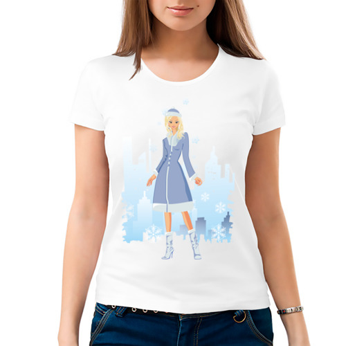 Женская футболка хлопок  Фото 03, Снегурочка (2)