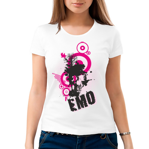 Женская футболка хлопок  Фото 03, Emo (4)