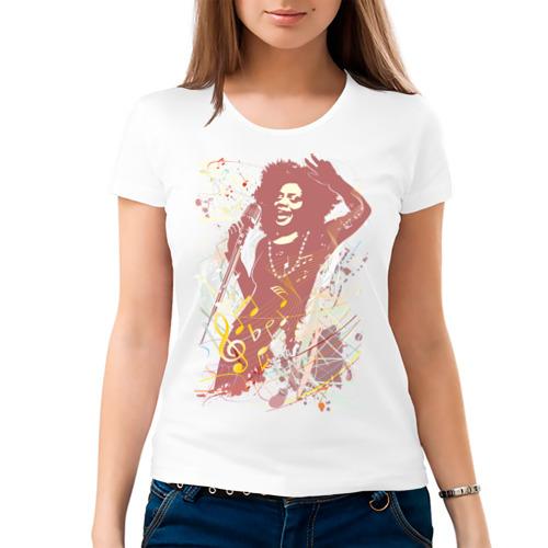Женская футболка хлопок  Фото 03, Джаз