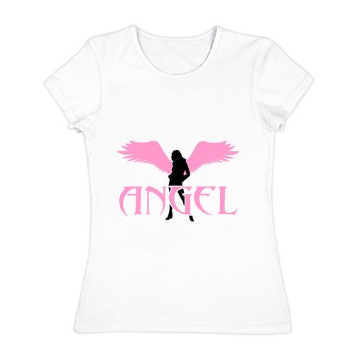Женская футболка хлопок Angel