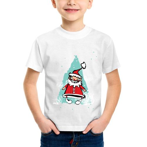 Детская футболка синтетическая Дед_мороз (3)