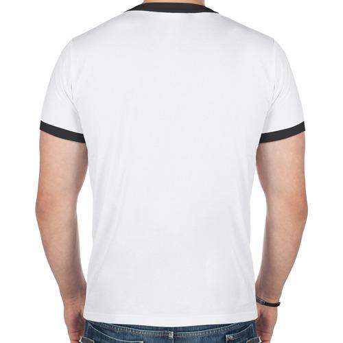 Мужская футболка рингер  Фото 02, Снеговик с Новым годом
