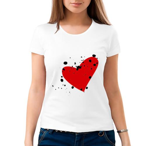 Женская футболка хлопок  Фото 03, Сердце в кляксу