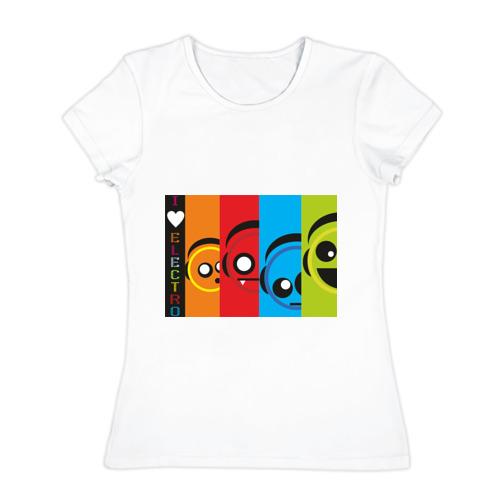 Женская футболка хлопок  Фото 01, Electro