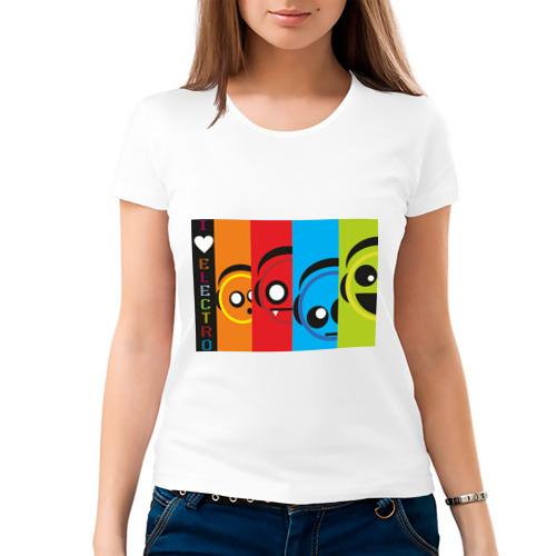 Женская футболка хлопок  Фото 03, Electro