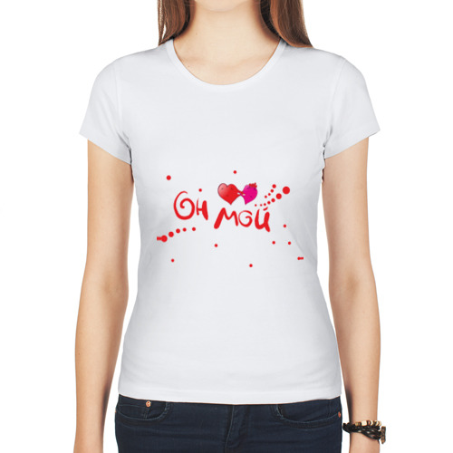 """Женская футболка синтетическая """"Он мой"""" - 1"""