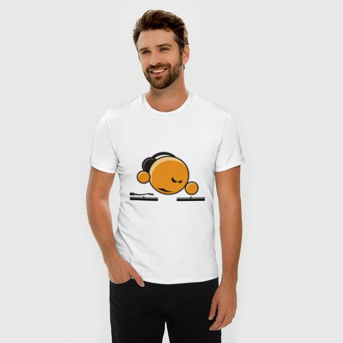 Мужская футболка премиум  Фото 03, Смайл DJ