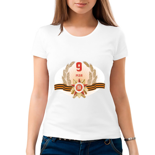 Женская футболка хлопок  Фото 03, 9 мая (1)
