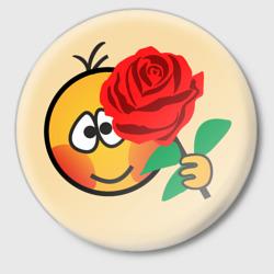 Смайлик с розой