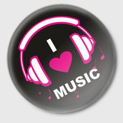 ЗначокI  love music