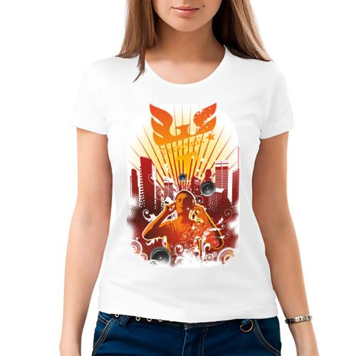 Женская футболка хлопок  Фото 03, Tecktonik (8)